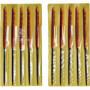 ツボサン TSUBOSAN MA010-03 組ヤスリ 10本組 丸 細目 MA01003