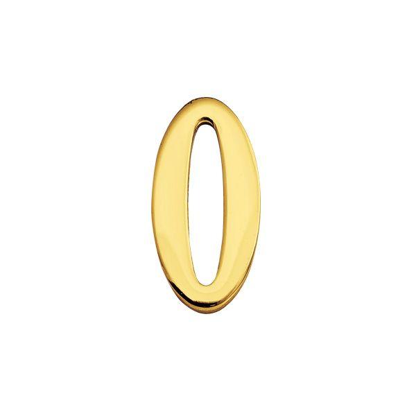 ゴーリキアイランド 820140 真鍮製切り文字 30サイズ 数字 ブラスナンバー 金色 30mm 0 真鍮 アンティーク レトロ 表札文字
