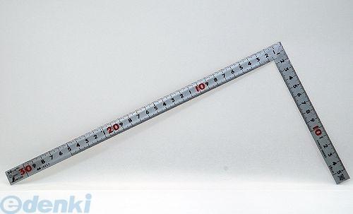 シンワ測定 [10652] 曲尺同厚 シルバー 30� 裏面角目 名作 JIS