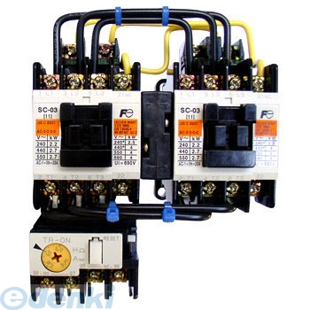[SW-03RM SI-AC200V 2.2K KO-AC200V 1BX2] 可逆形電磁開閉器(ケースカバーなし)