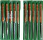 ツボサン TSUBOSAN HA010-02 組ヤスリ 10本組 半丸 中目 HA01002