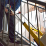 サンコーレアモノショップ ELECTRL4 電動階段のぼれる台車ハンドル可変タイプ