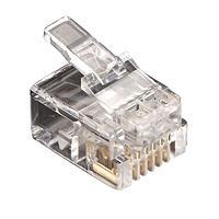 【個数:1個】ブラックボックス [FMTP611-10PAK] RJ11 6芯モジュラ・コネクタ(10コパック)