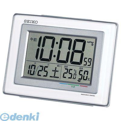 [ZTK2901] セイコー 温湿度計付 電波目覚まし時計 SQ686W