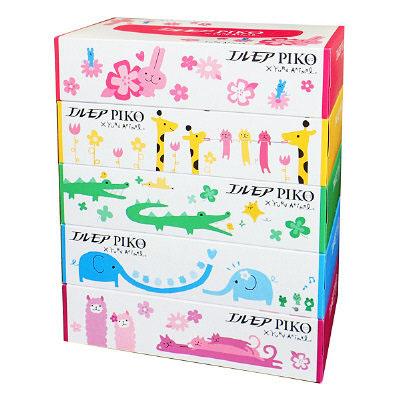カミ商事 [4971633002852] エルモアピコ ティッシュ 160組 1パック5箱入×12パック