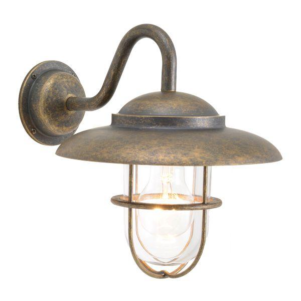 ゴーリキアイランド 750337 真鍮製ブラケットランプ クリアガラス&普通球 BR5060 CL 古色 ポーチライト アンティーク レトロ