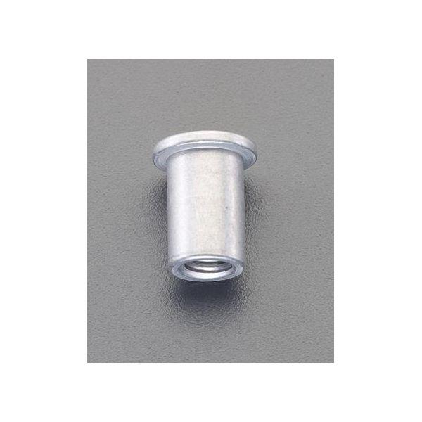 エスコ EA527NK-26 M5/0.5−1.5mm ブラインドナット アルミ平頭/48個 EA527NK26