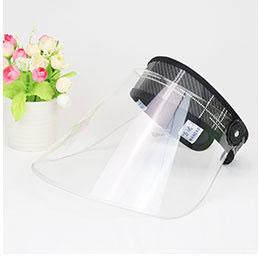 サンバイザー バイザークリア 透明 飛沫防止 飛沫感染予防 コロナ ウイルス対策 ウイルス 安全 感染症 顧客対応 小売 対面 花粉対策 医療 介護 予防 防塵