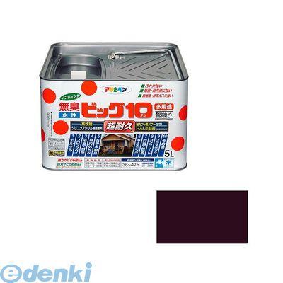 [4970925436597] アサヒペン 水性ビッグ10多用途 5L 241チョコレート色