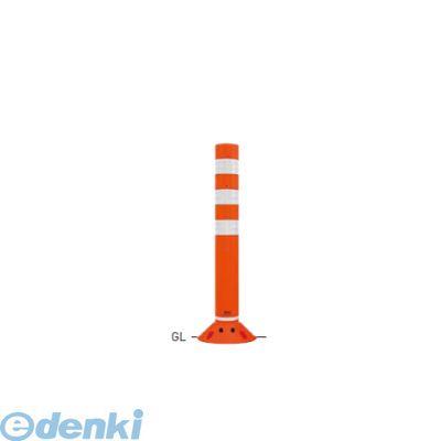 【個人宅配送不可】【個数:1個】帝金 [RC-65B(OR)] 「直送」【代引不可・他メーカー同梱不可】 ポリウレタンバリカー ラウンドコーン オレンジ色 (ガードコーン)