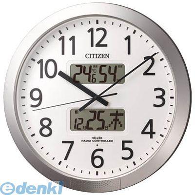 リズム時計工業 [4FN404019] プログラムカレンダー404(電波掛時計)シルバーメタリック