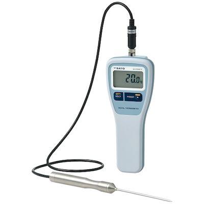 佐藤計量器製作所 SATO SK-270WP-K 直送 代引不可 8078−40 防水型デジタル温度計 標準センサS27WP−01付 SK270WPK