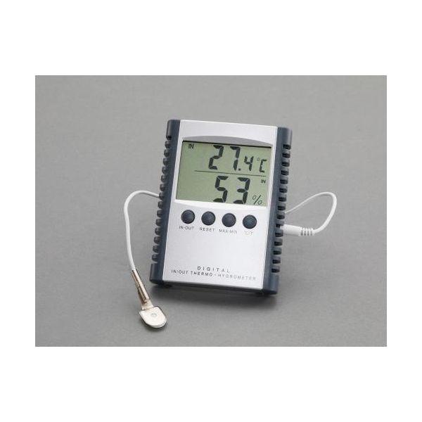エスコ EA728AC-11 室内・室外 最高・最低温度湿度計 デジタル EA728AC11
