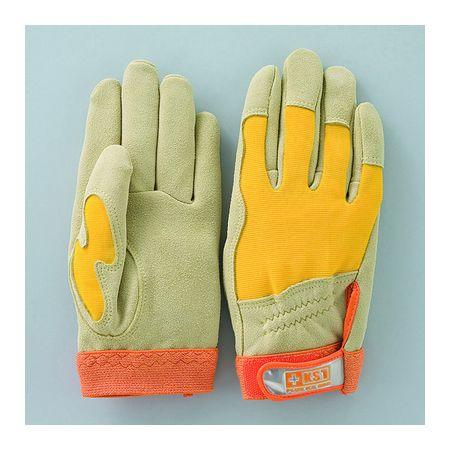 おたふく手袋  4900797523224 D−523 鹿革マジック甲メリ手袋