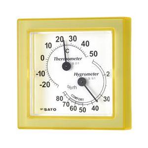佐藤計量器製作所 [1006-30] 温湿度計ミニイエロー 1006-30