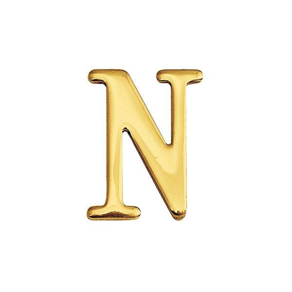 ゴーリキアイランド 820114 真鍮製切り文字 30サイズ 大文字 ブラスレター 金色 30mm N 真鍮 アンティーク レトロ 表札文字