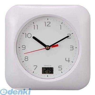 オーム電機  08-0046 お風呂用クロック&温度計 HB−T10−W 080046