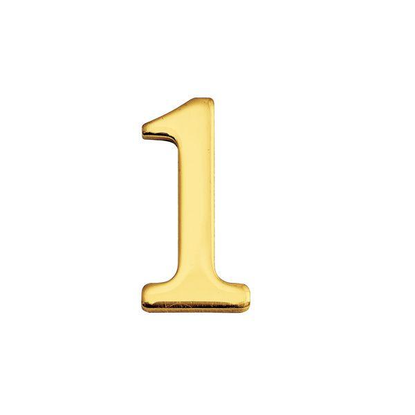 ゴーリキアイランド 820131 真鍮製切り文字 30サイズ 数字 ブラスナンバー 金色 30mm 1 真鍮 アンティーク レトロ 表札文字