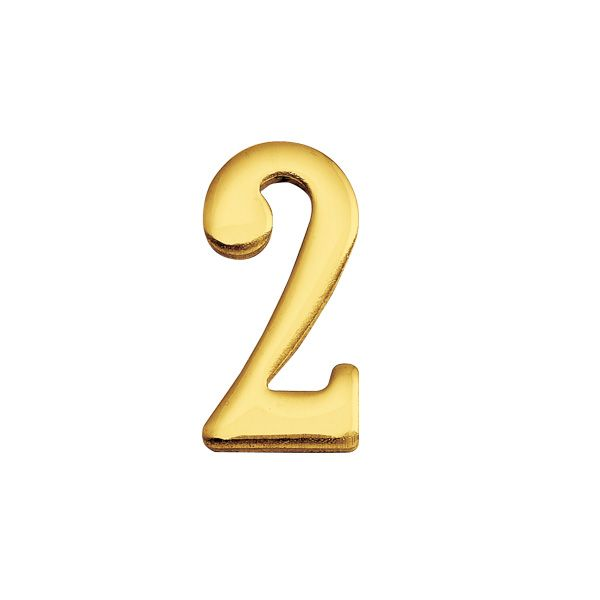 ゴーリキアイランド 820132 真鍮製切り文字 30サイズ 数字 ブラスナンバー 金色 30mm 2 真鍮 アンティーク レトロ 表札文字