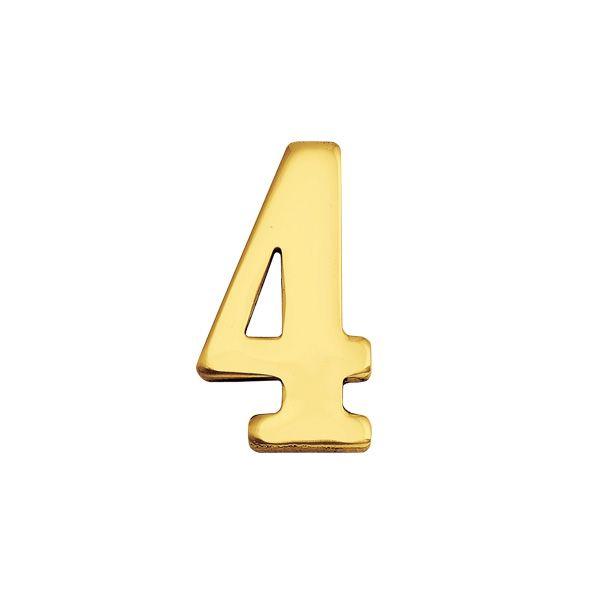 ゴーリキアイランド 820134 真鍮製切り文字 30サイズ 数字 ブラスナンバー 金色 30mm 4 真鍮 アンティーク レトロ 表札文字