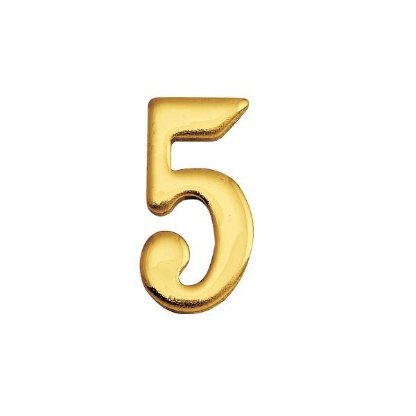 ゴーリキアイランド 820135 真鍮製切り文字 30サイズ 数字 ブラスナンバー 金色 30mm 5 真鍮 アンティーク レトロ 表札文字